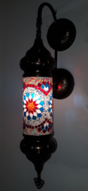 Mozaïeken cilinder wandlamp MC-rood