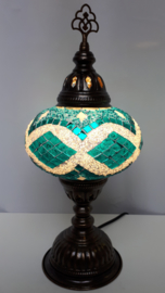 Tafellamp 16 cm turquoise/groen