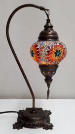 Tafellamp 13cm 'zwaan' multicolor 4ROGB
