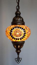 Mozaïek hanglamp 13cm goudbruin 3SR