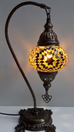 Tafellamp 13cm 'zwaan' goudbruin