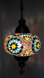 Mozaïek hanglamp 24cm multicolor BTRG