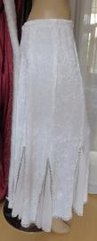 fluwelen rok wit/zilver
