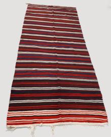 Kelim gekleurde strepen K132 (146x345cm)