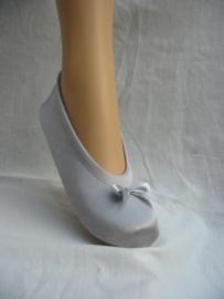 dansschoentjes zilver (stof)