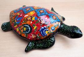 Schildpad keramiek rood