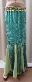 fluwelen rok groen2/goud