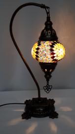 Tafellamp 13cm 'zwaan' bruin/zwart