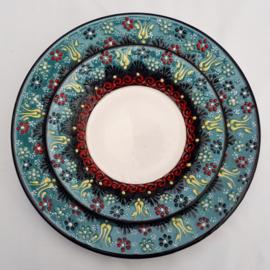 borden keramiek 18 of 26cm ocean blue2, prijs vanaf
