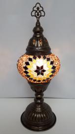Tafellamp 13cm goudbruin 3ster