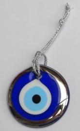 """hanger """"boze oog"""" zilver 7,5cm"""