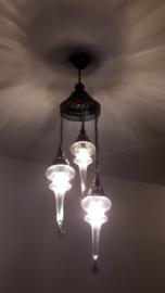 hanglamp 3 glazen Pyrex pegels