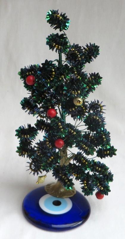 """kerstboompje op """"boze oog"""" amulet 09"""