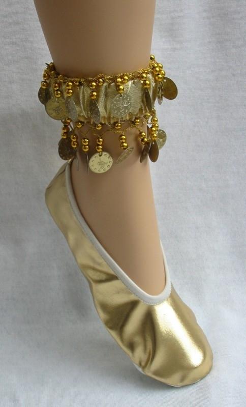 dansschoentjes goud