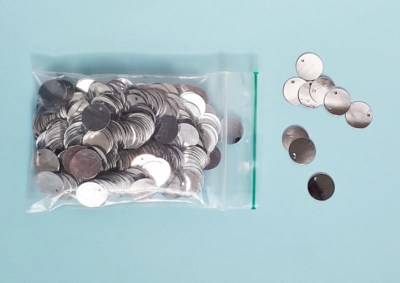 plastic muntjes klein zilver