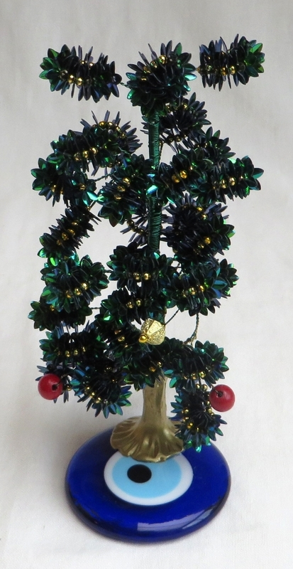 """kerstboompje op """"boze oog"""" amulet 07"""