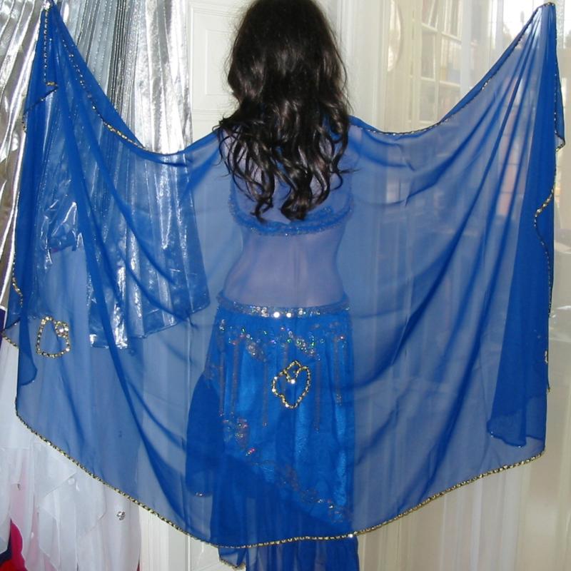 sluier 207 blauw (240 x 120 cm)