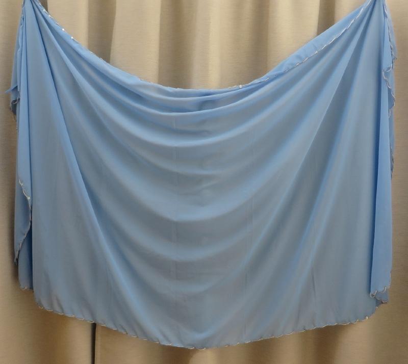 sluier 123kp licht blauw (200 x 105 cm)