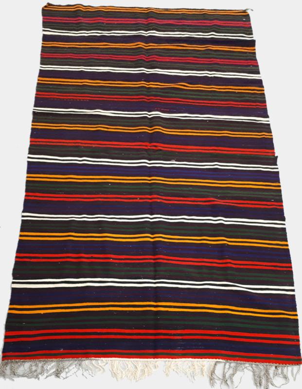 Kelim gekleurde strepen 146x370