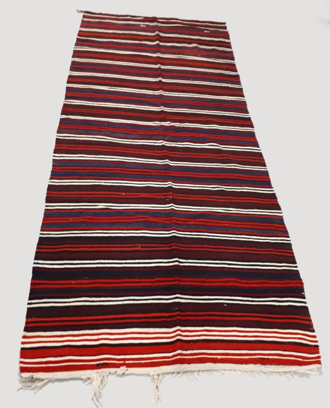 Kelim gekleurde strepen 146x345
