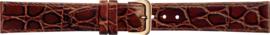 Kalfleer Bruin Croco Horlogeband  8mm tot 20mm