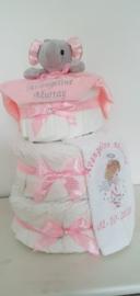 Geboorte luiertaart roze INTRODUCTIE prijs