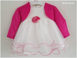 baby peuter feest jurkje met bolero fuchsia roze