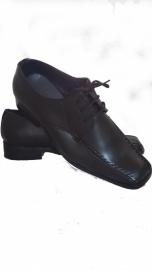 Zwarte gala schoen, bruidsjonkerschoen