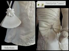 """Laura"" Communie, Bruidsmeisjes jurkje  ivoor"