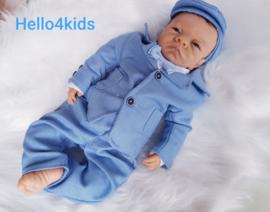 blauw Baby peuter kostuum Ismael