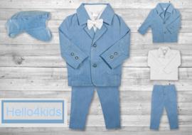 Chique baby peuter kostuumpje  lichtblauw