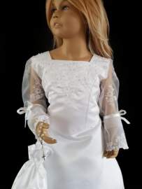 witte communie jurk bruidsmeisje Lieke