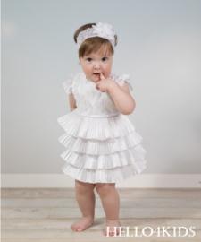 Wit feestelijk kanten baby peuter jurkje VI