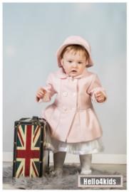 setje roze  jasje - mantel met hoedje