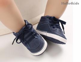Navy blue hoge schoentjes