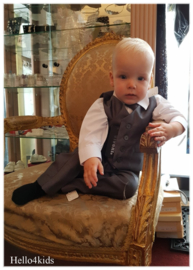4 delig Antraciet grijs baby kostuum