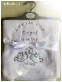 Doop deken God Bless (