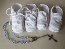 Witte jongens doop schoentjes New born