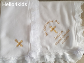 doopdeken goud kleurig Exclusief gemaakt naar wens