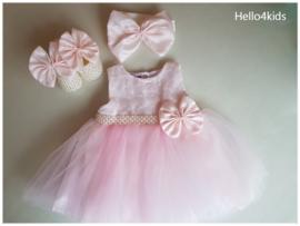 Roze bruidsmeisjes - Doop -  fotoshoot Strik & Strass