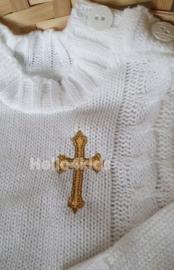Wit baby truitje voor de doop.