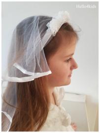 kinder meisjes bruidssluier wit of roze
