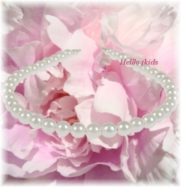 Diadeem met witte  look-a-like parels