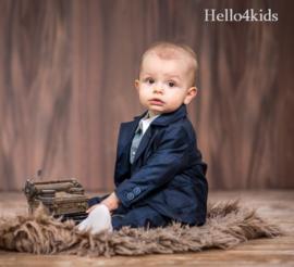 Chique baby peuter kostuumpje  Navy blue NU GRATIS PETJE!