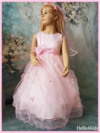 roze Feestjurkje communiejurk bruidsmeisjes jurkje Roos