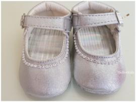 zilveren  baby feestschoentjes - bruidsmeisjes