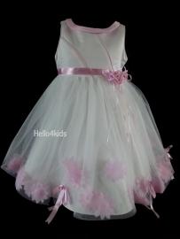 Feest jurkje Eva roze -  ivoor