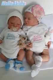 Prematuur/newborn  romper klein groot wonder