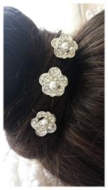 3x haarpin stras - parel