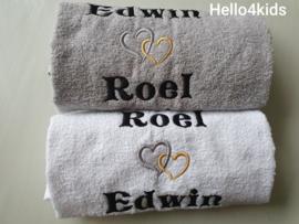 Liefdes handdoek setje
